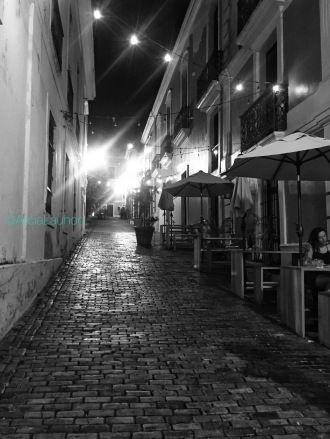Old San Juan Street Black & White