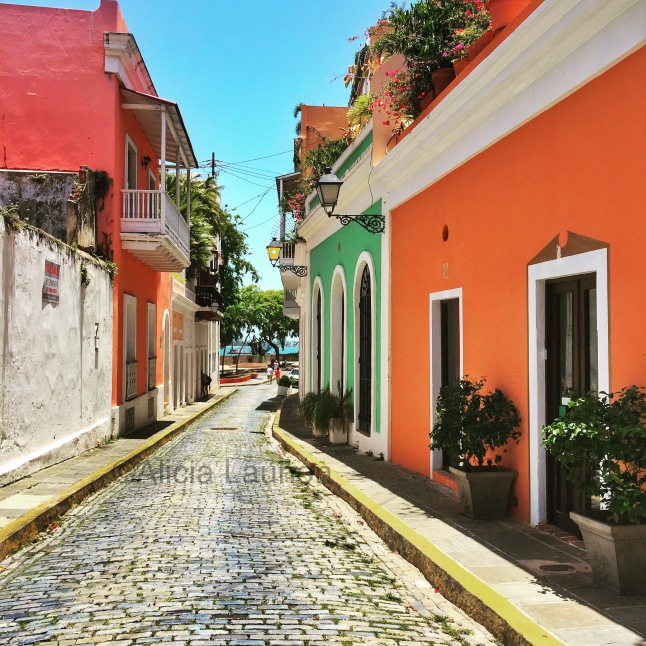 Old San Juan View to Ocean from Street July 2017
